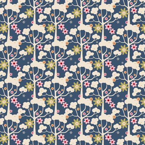 Stoff Blumen - Tilda Stoff Wildgarden blue 25 x 110 cm NEU! - ein Designerstück von LilliLoewenherz bei DaWanda