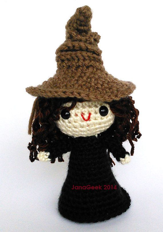Pattern for Harry Potter Sorting Hat Doll Sized Crochet | Brujo ...