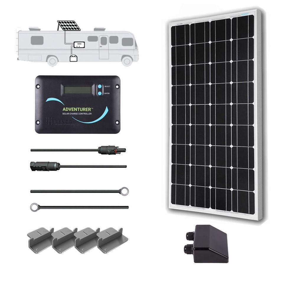 100 Watt 12 Volt Solar Rv Kit Off Grid Solar Solar Panel Kits Best Solar Panels