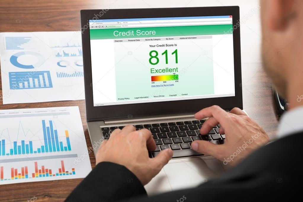 Businessman Checking Credit Score Stock Photo Spon Credit Checking Businessman Photo Ad Llid At Least