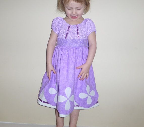 Sofia the First inspired peasant dress with by primroseandpirates, $62.00