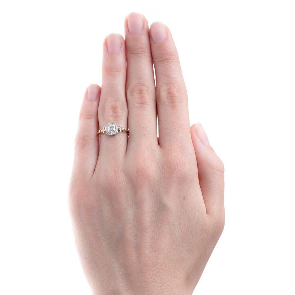 Sparkling Asscher Cut Diamond Halo Engagement Ring | Pershing Square ...