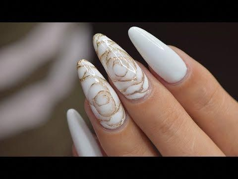 Photo of White Roses with Blooming Gel | April Ryan | Red Iguana – YouTube #whitenail