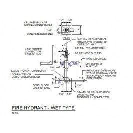 Mechanical - Fire Hydrant Detail | Cad | Fire, Cad blocks