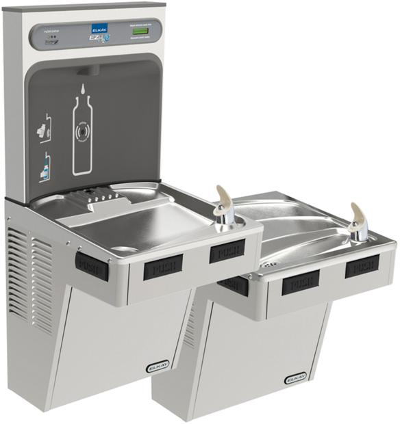 Ezh2o Bottle Filling Station With Bi Level Ada Cooler Filtered 8 Gph Stainless In 2019 Drinking Fountain Filling Station Water Coolers