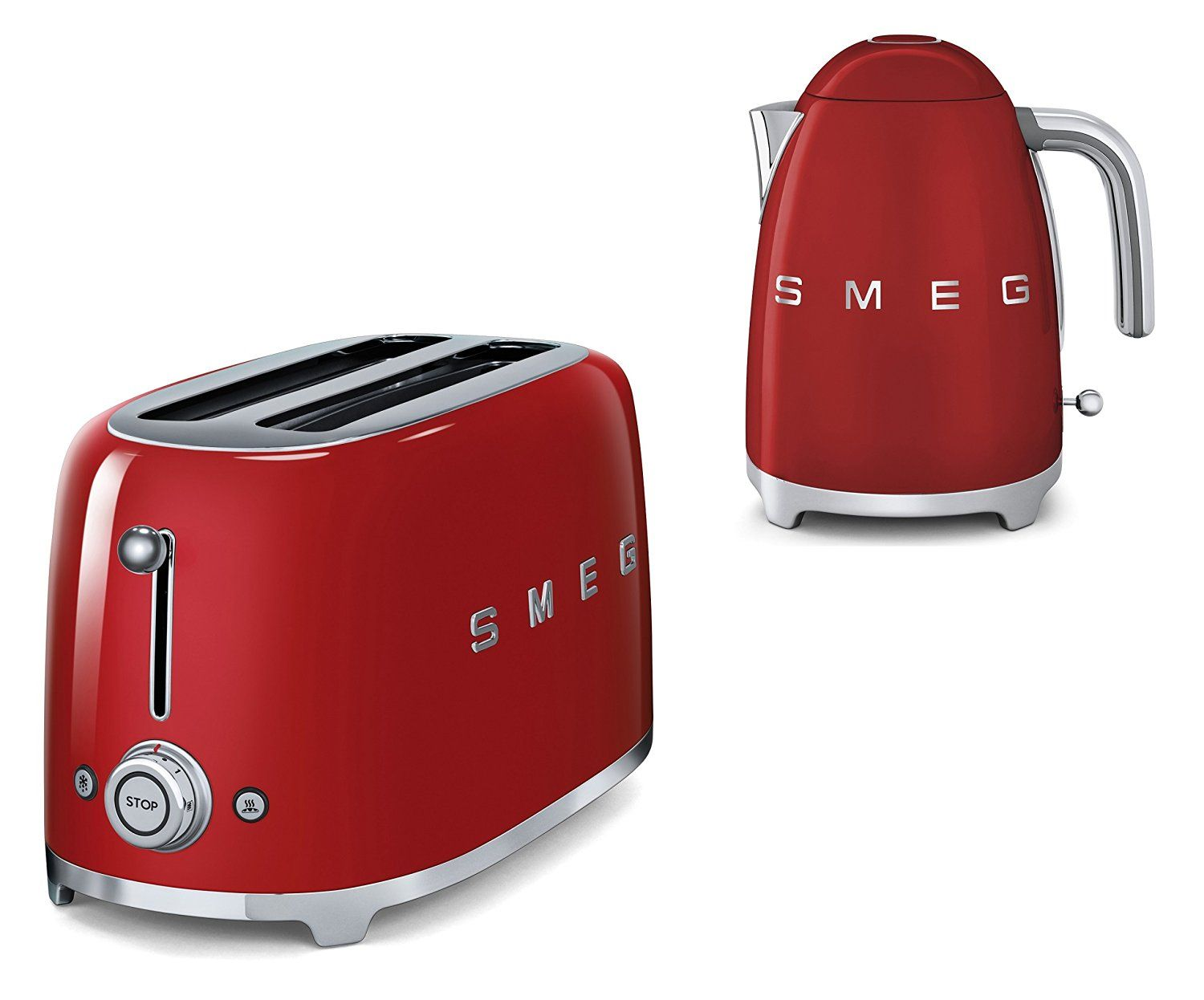 SMEG TOASTER 4 SLICES 50'S STYLE RED