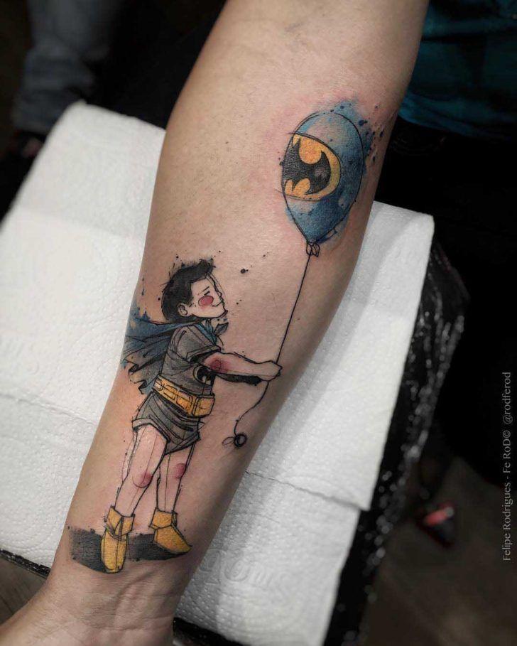 Bat Kid Tattoo On Arm Tatoo Pinterest Proyectos - Juegos-de-tatuajes-para-nios