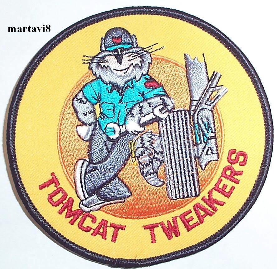 Us.Navy F14 Tomcat `Tomcat Tweakers` Cloth Badge / Patch