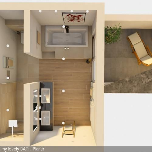 Badplanung Grundriss Bath, House and Bathroom designs - badezimmer a plan