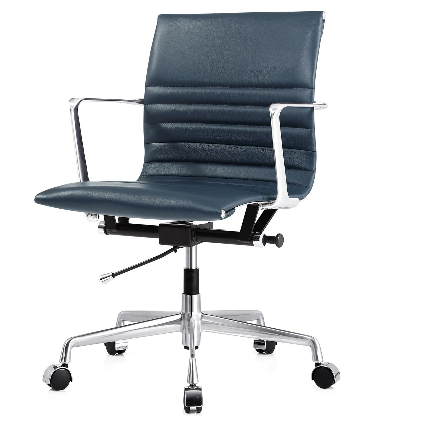 M navy italian leather executive office chair products
