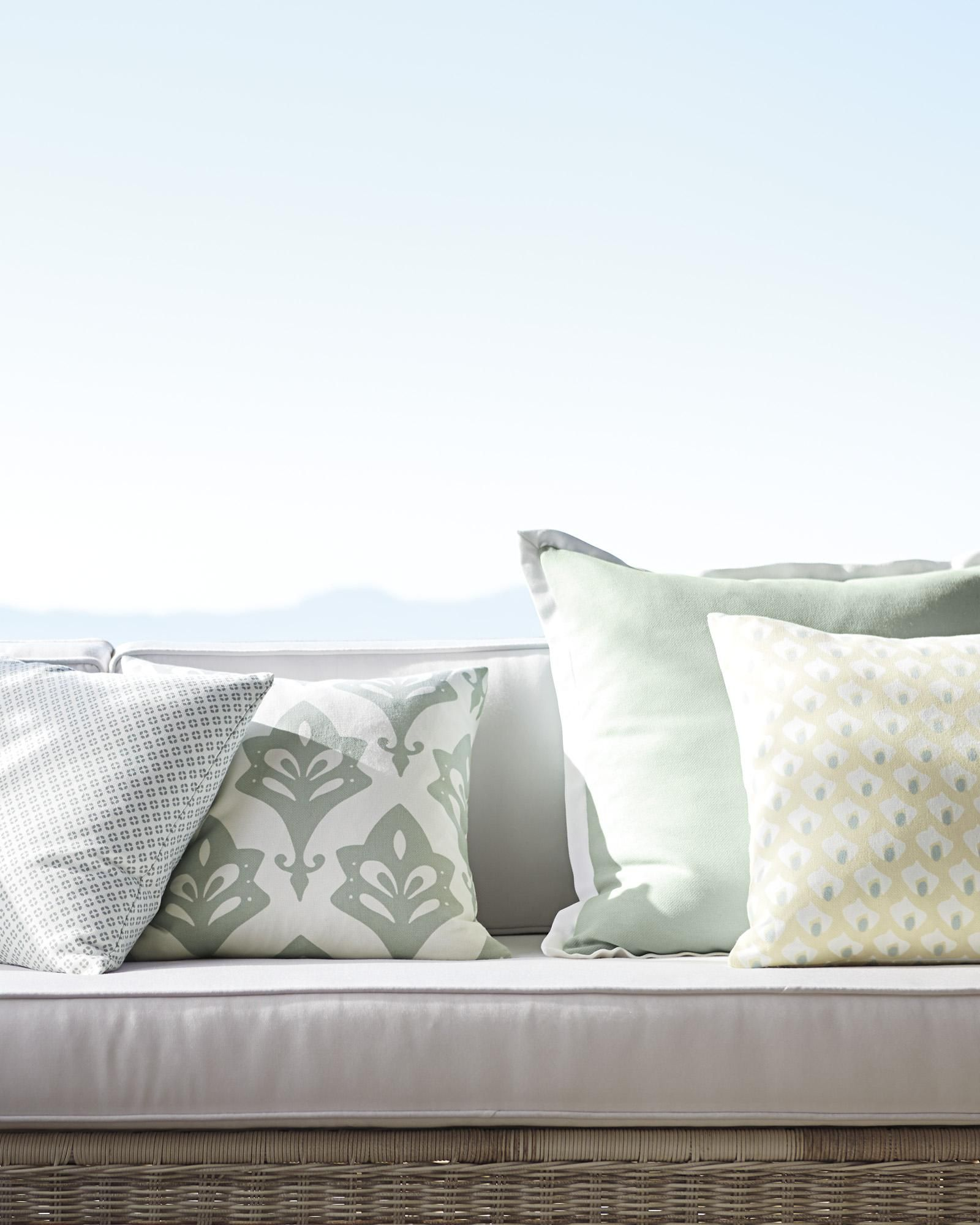 Pillows designed to weather the elements serenaandlily beach