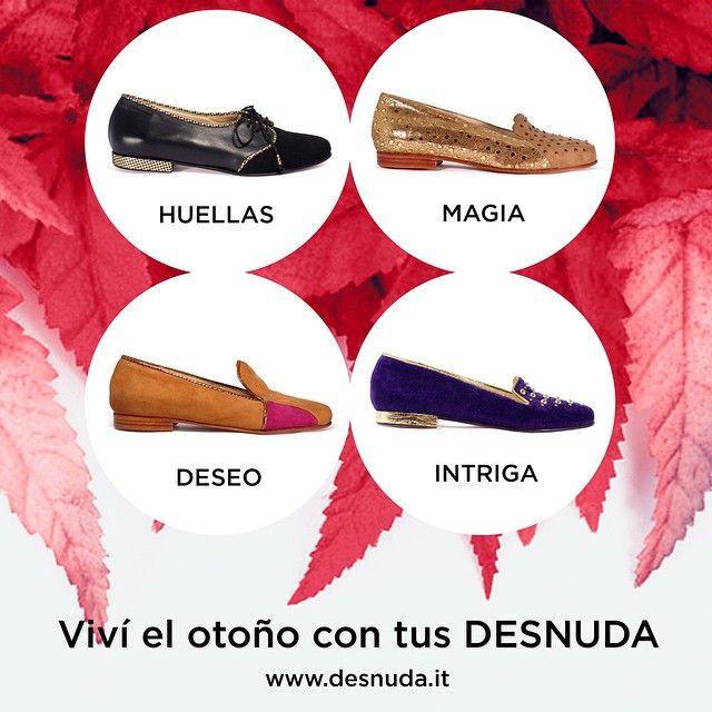 Visítanos en www.desnuda.it y elegí tus Desnuda para este otoño.  #Shoes #otoño #Love #desnudashoes