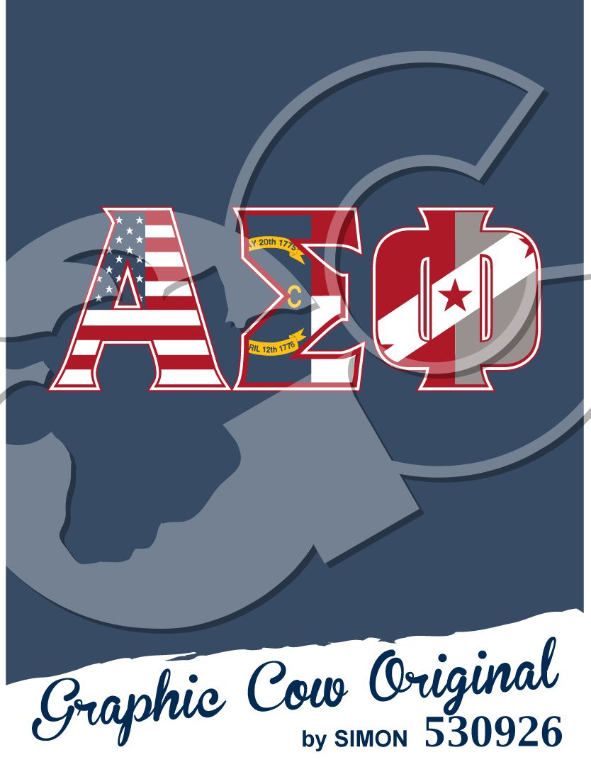 Greek letters Alpha Sigma Phi American flag fraternity PR #grafcow