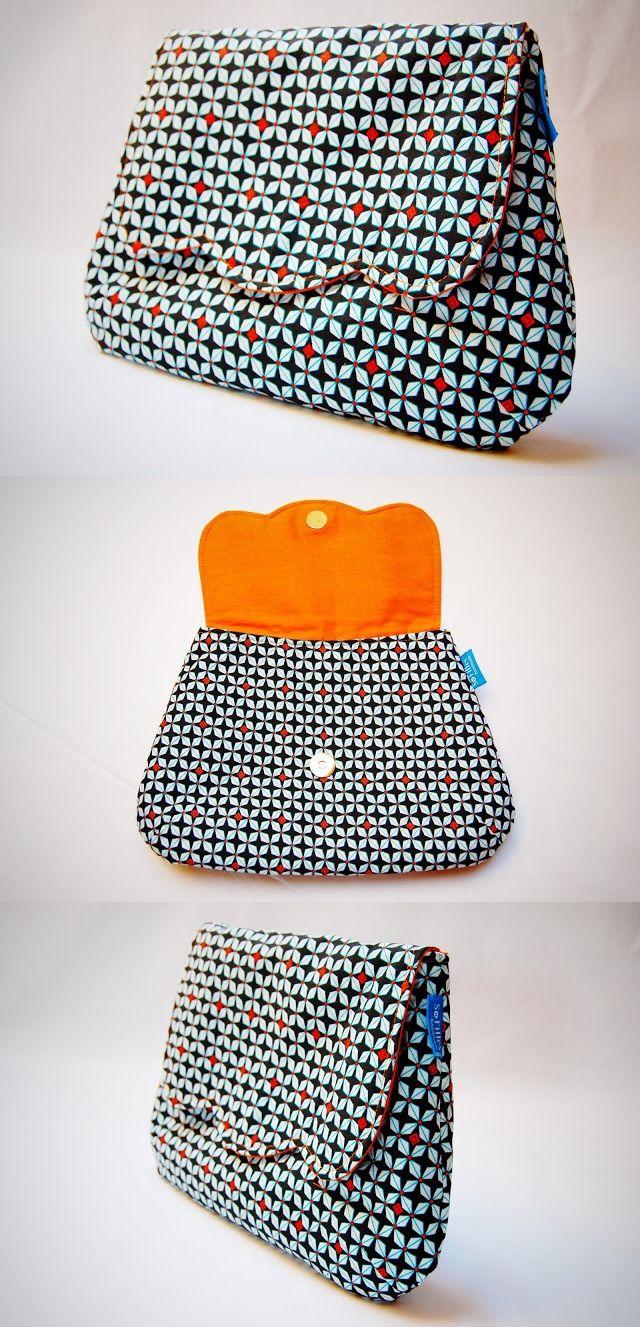 Flores Clutch - pattern from ithinksew.com   Taschen   Pinterest ...