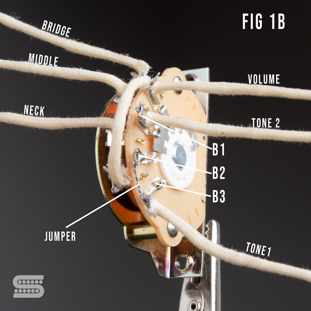 5 Easy Strat Wiring Mods You Can Do On A 5 Way Strat Switch Part 3 Guitar Tech Cool Electronics Guitar Rig