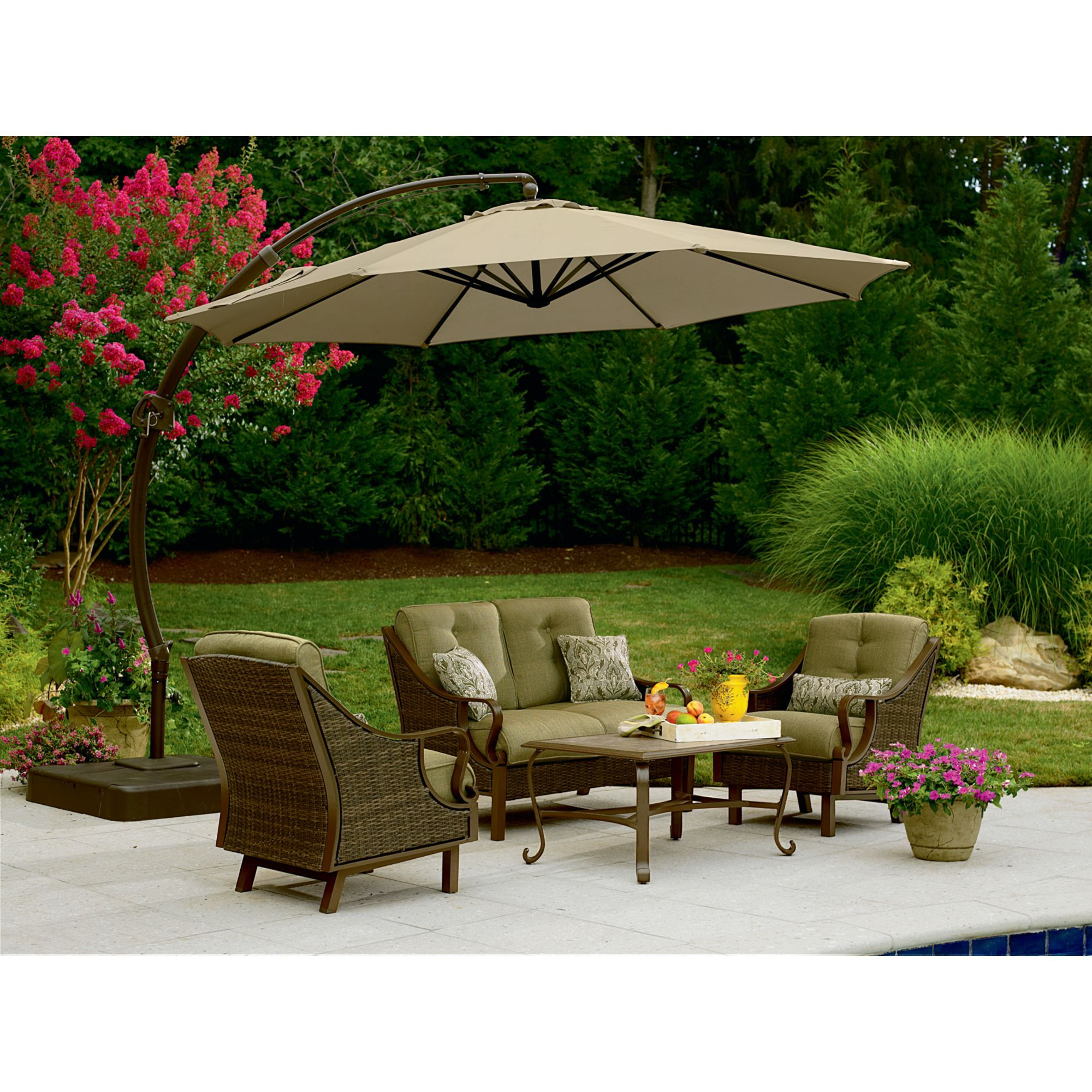 Steel Round Offset Umbrella  Stay Cool by the Pool at SearsSteel Round Offset Umbrella  Stay Cool by the Pool at Sears   For  . Sears Chaise Lounge Chairs Patio Furniture. Home Design Ideas