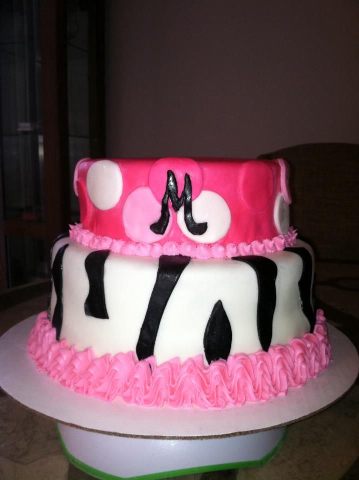 Hot Pink Zebra Print Cake My Creations Pinterest Zebra Print