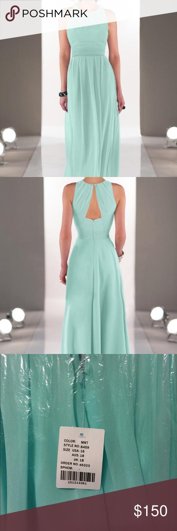 Prom Dress - Sorella Vita #8459 New! Sorella Vita style #8459 Bridesmaid or perfect for Prom Dress! Never been worn, brand new in bag with tags. Runs small, fits size 12/14. Mint Color. Sorella Vita Dresses Prom