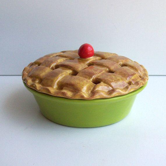 Ceramic Pie Potpourri Dish With Lattice Style Crust And