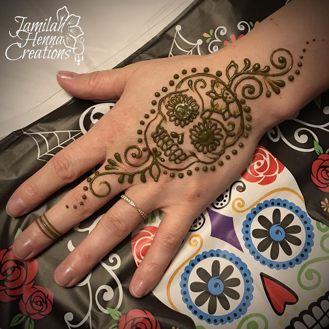 sugarSkull henna jamilahhennacreations Henna, Hand