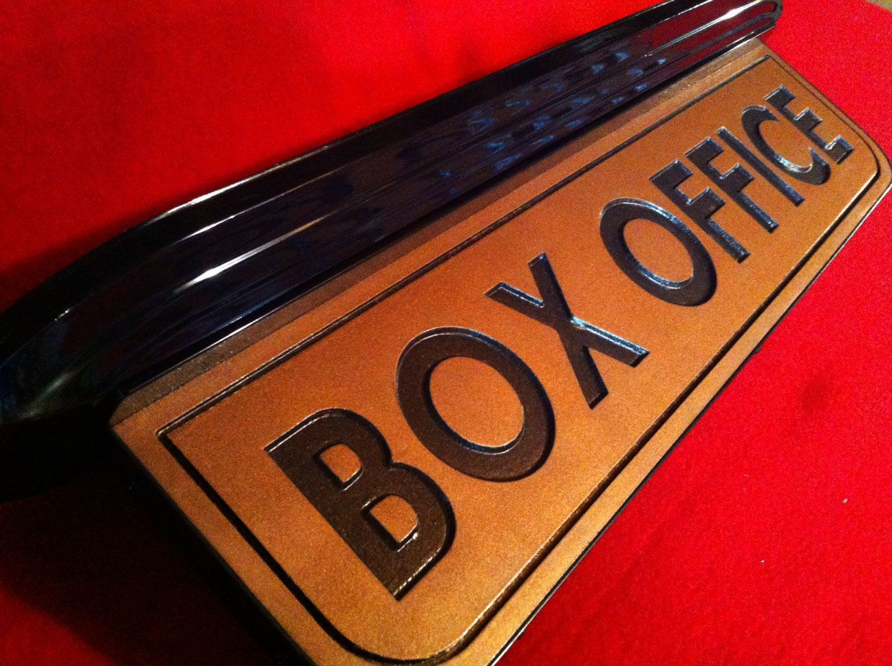 Custom home theater box office ticket booth sign vintage