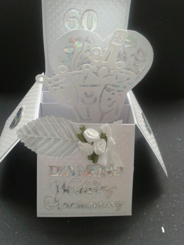 Handmade Diamond Wedding Anniversary Pop Up Card Ebay Diamond Wedding Anniversary Cards Anniversary Cards Handmade Wedding Cards Handmade