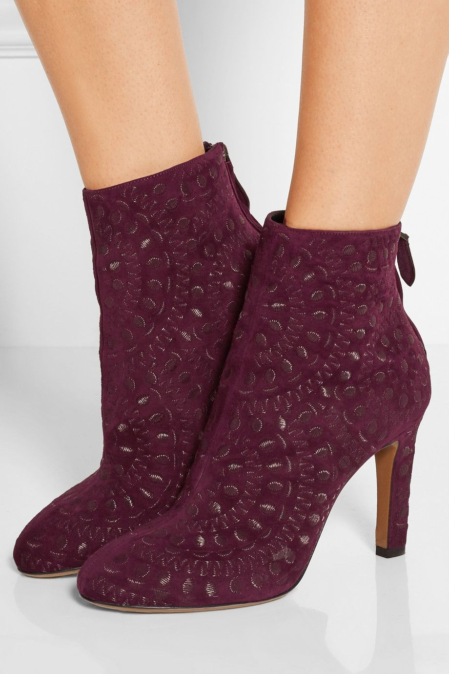 for sale Alaïa Embossed Leather Booties discount price Vt7BG