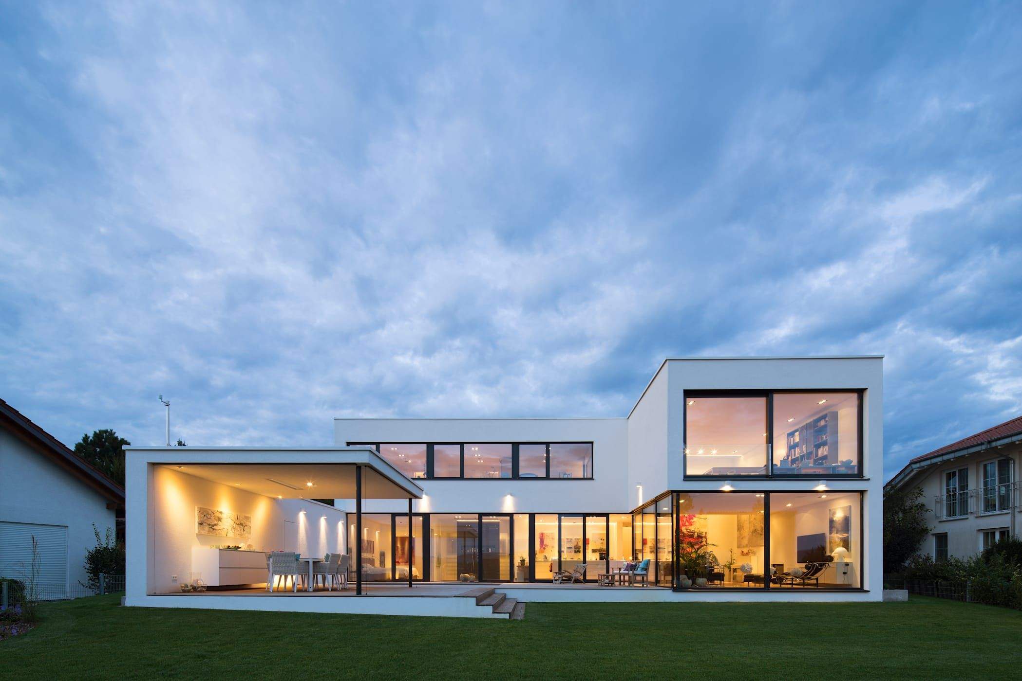 Einfamilienhaus fr12 im grossraum stuttgart moderne häuser von schiller architektur bda modern | homify #hausdesign