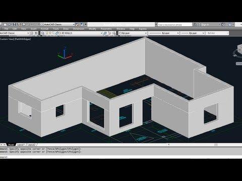 Autocad 2007 3d Basic Tutorial For Beginners Youtube Autocad Autocad Tutorial Architecture Presentation
