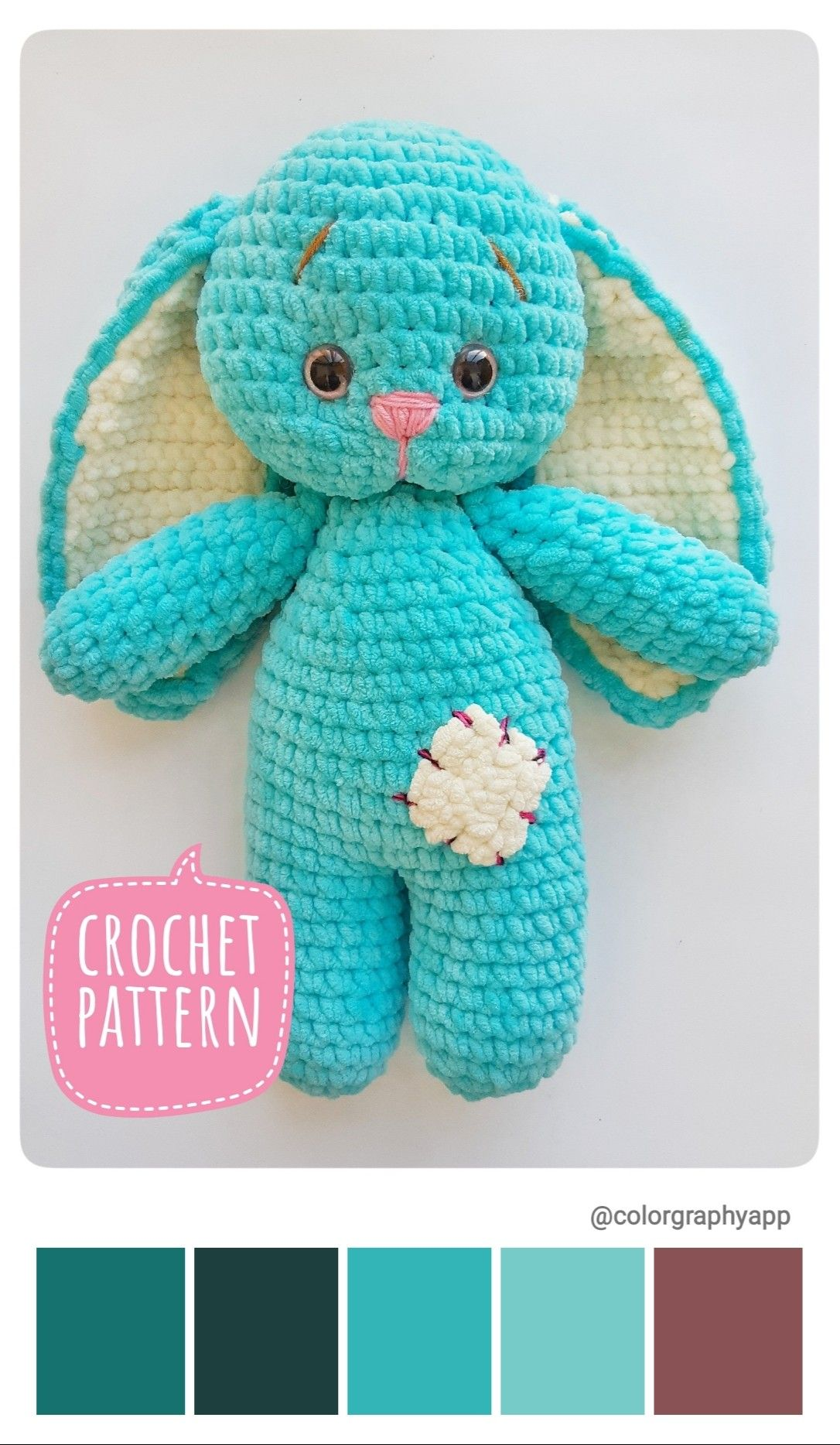 Free and Cute Sleeping Amigurumi Bunny Crochet Pattern - Free ... | 1868x1086