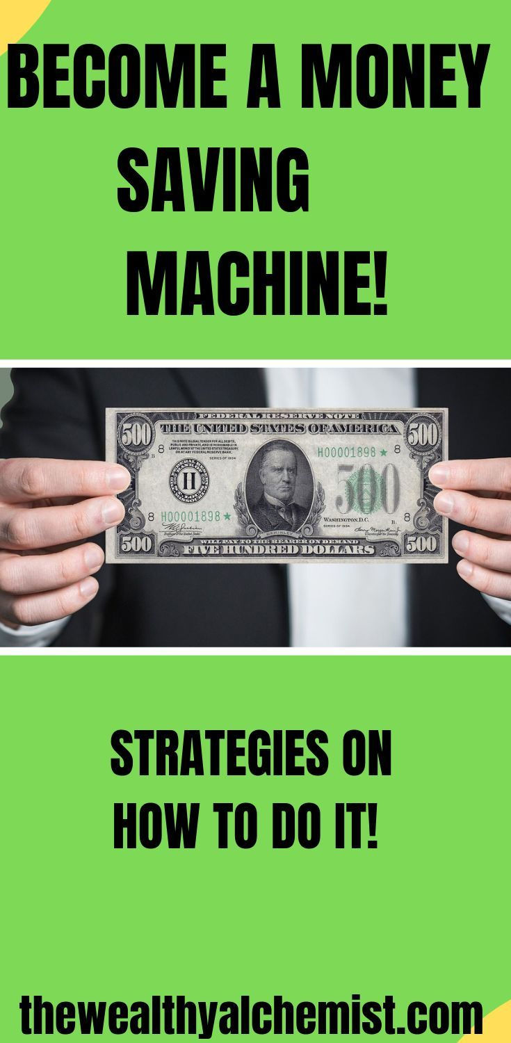 How to Become a Money Saving Machine #startsavingmoney