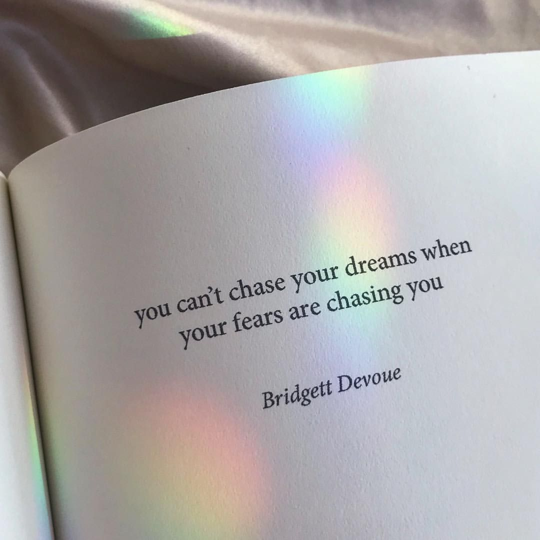 """Stop running. Accept your fears and use them as motivation to accomplish your dreams  • My debut book """"Soft Thorns"""" is available at…"""