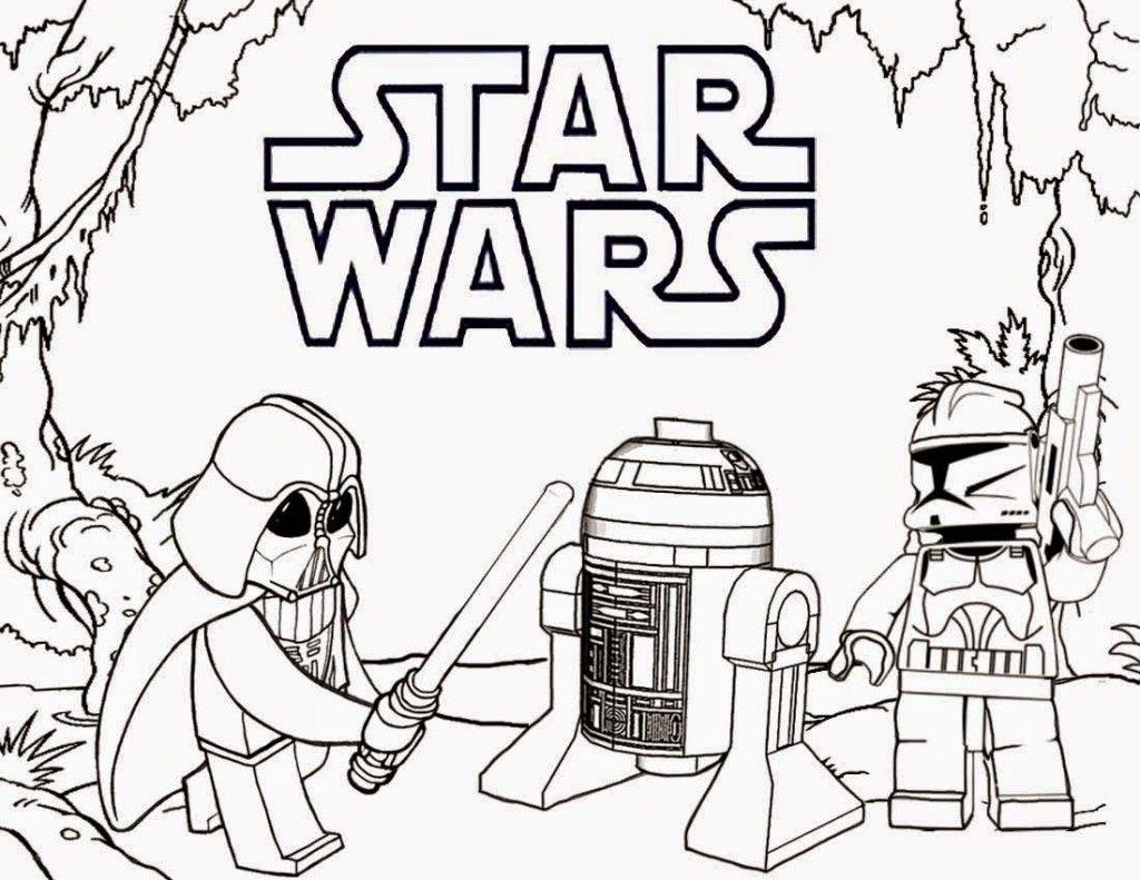Star Wars Lego Coloring Boyama Sayfalari Star Wars Legolar