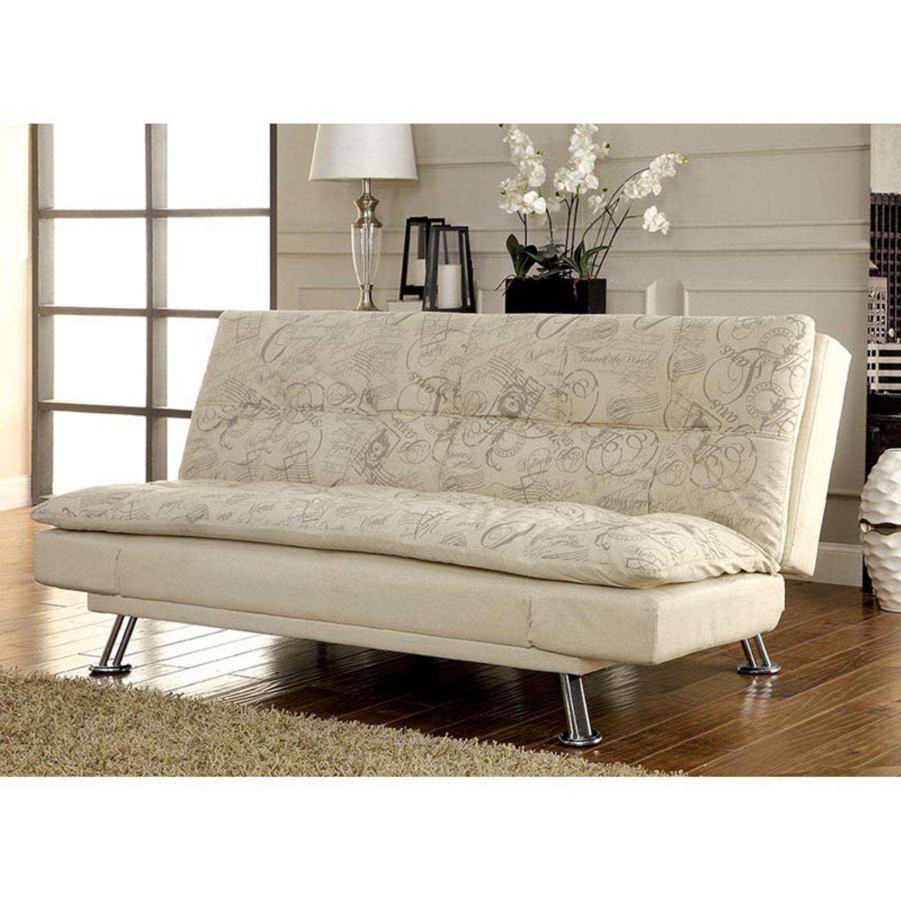 White Futon West Elm Gray Couch Chair Sleeper Sofas Kids Reading Nooks
