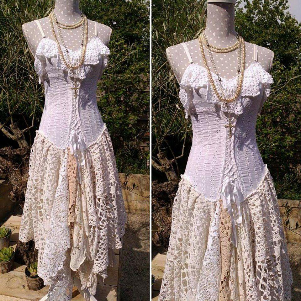 Robe de mariee shabby chic