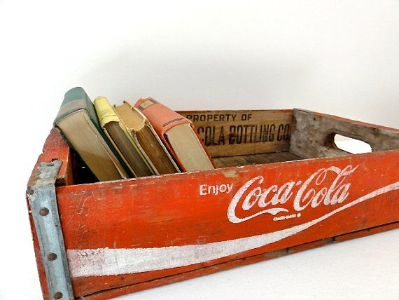 Vintage Coke Crate...great idea of holding books