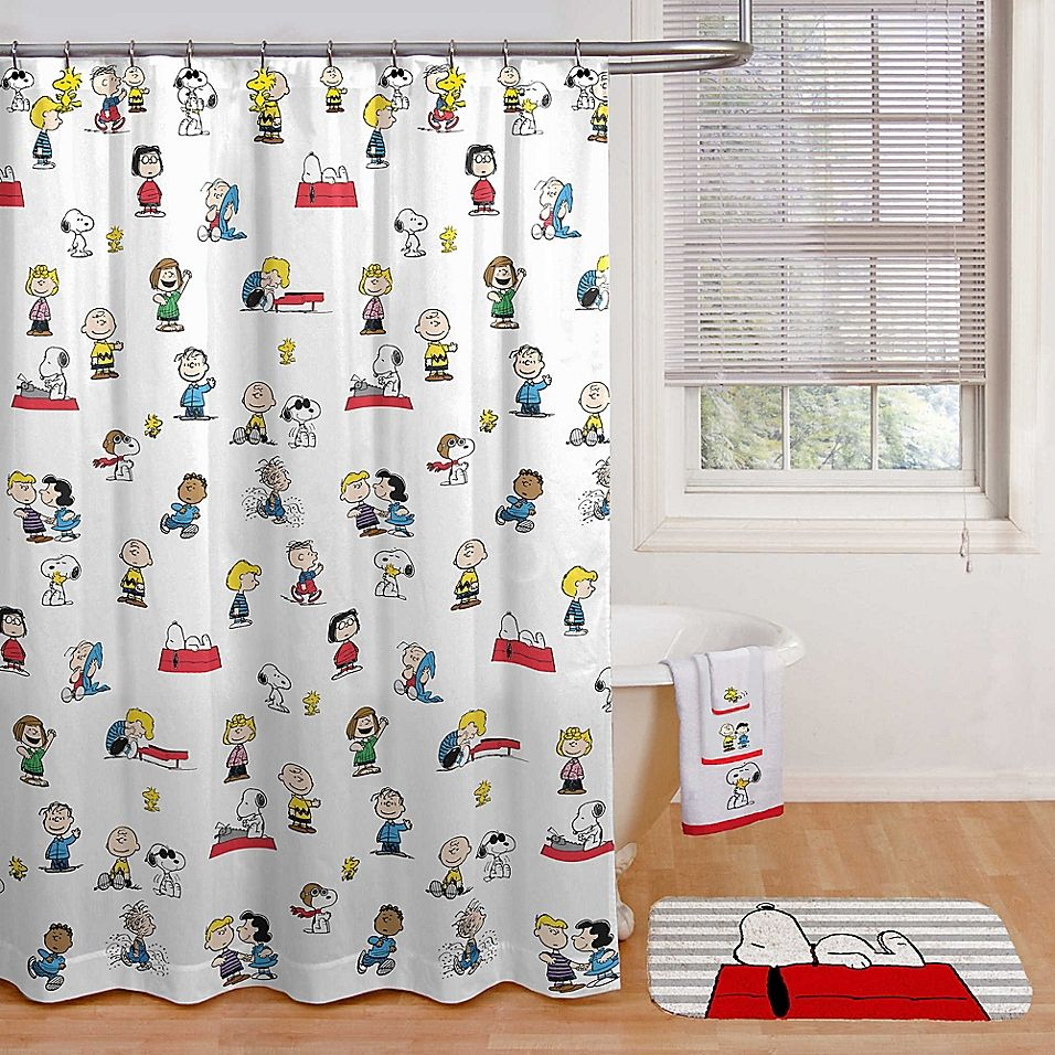 Peanuts Shower Curtain 96 Inch Shower Curtain Shower Curtain Holiday Shower Curtains