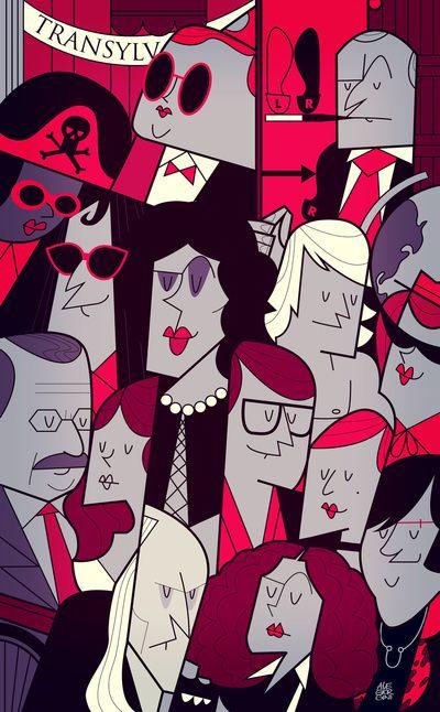 The Rocky Horror Picture Show Art Print  by Ale Giorgini