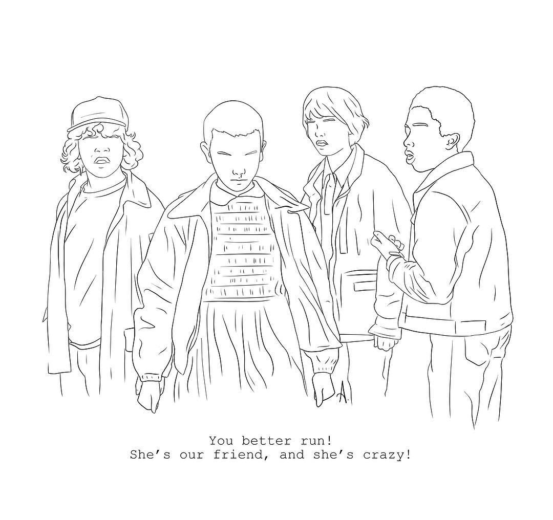 Stranger Things By Albasketch Draw Drawing Illustration Art