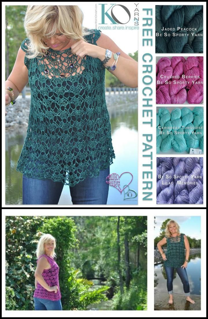 50+ Quick & Easy Crochet Summer Tops - Free Patterns   Manualidades ...