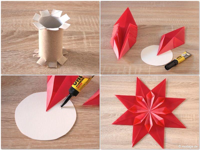weihnachtsstern basteln sterne weihnachtsstern und sterne aus butterbrotpapier. Black Bedroom Furniture Sets. Home Design Ideas
