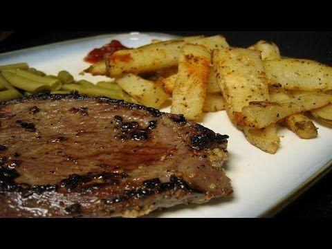 طريقة عمل شرائح الستيك المقلية مع البطاطس المحمرة Cooking Recipes Steak Seasoning Copycat Recipes