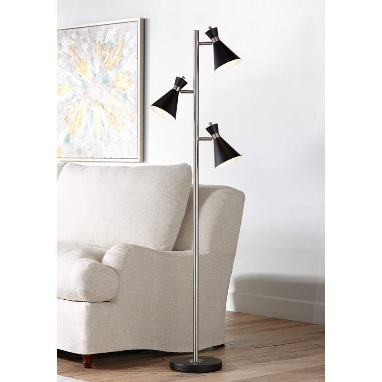 Donovan Led 3 Light Tree Floor Lamp Tree Floor Lamp Stylish Floor Lamp Contemporary Floor Lamps