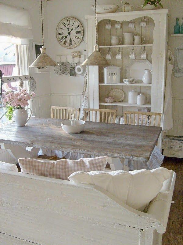 beauty and love | shabby | Pinterest | Shabby chic dining room ...