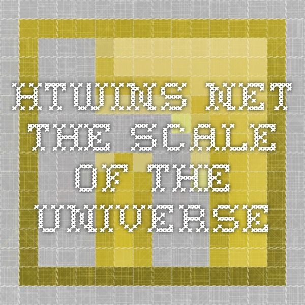htwins net the scale of the universe universe pinterest universe