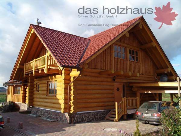 Holzhaus Rundstammhaus Blockhaus Naturstammhaus Massivholzhaus Das Holzhaus Oliver Schattat Gmbh Holzhaus Haus Blockhaus