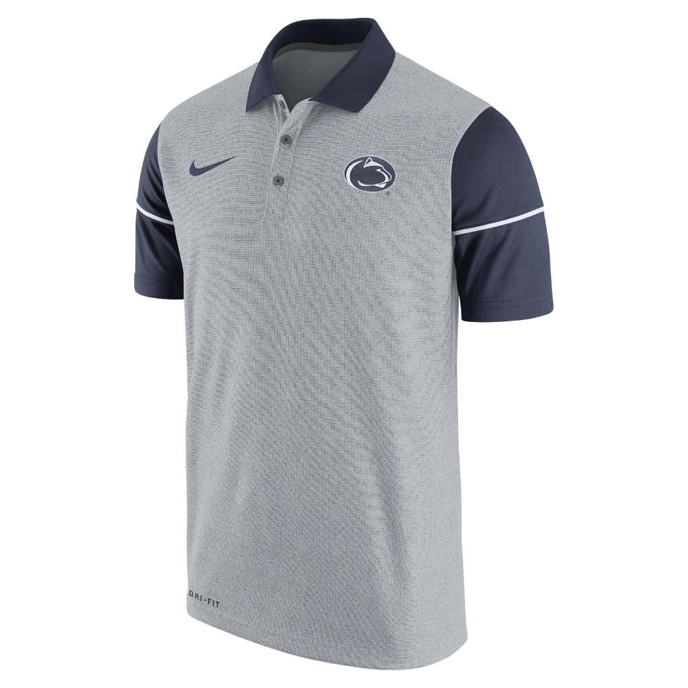 dec45b75284b Nike College Sideline (Penn State) Men s Polo Shirt Size Small (Grey) -  Clearance Sale