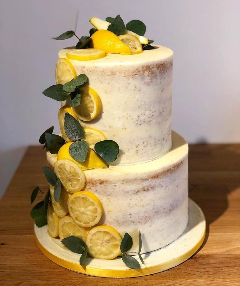 Lemon Cake With Foliage Lemon Wedding Cakes Lemon Cake Mix Recipe Lemon Birthday Cakes