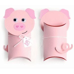 Pillow Box Basteln silhouette design store pig pillow box basteln