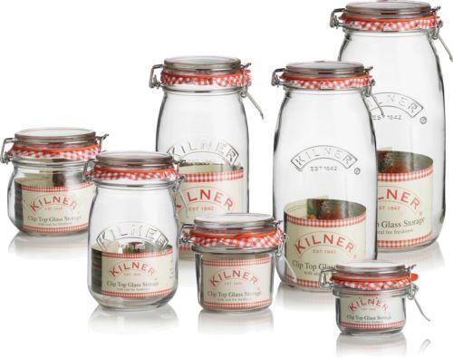 Vintage Kilner Preserving Clip Twist Screw Swing Push Top Storage Jars Bottles
